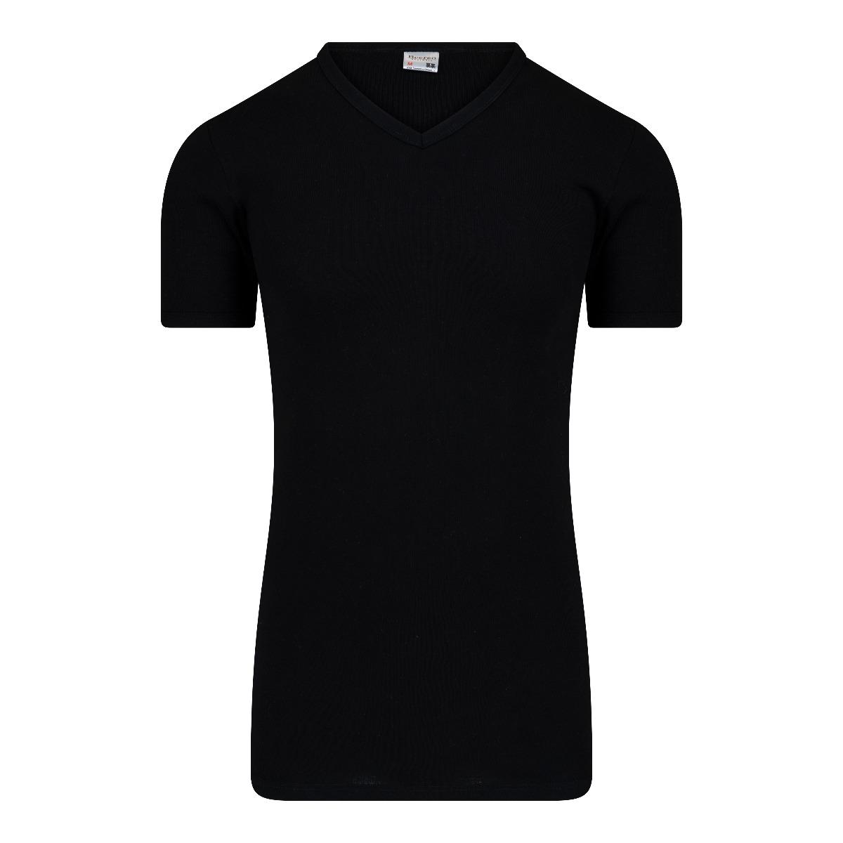 Beeren M3000 Heren T-shirt V-hals Extra Lang Zwart Xxl