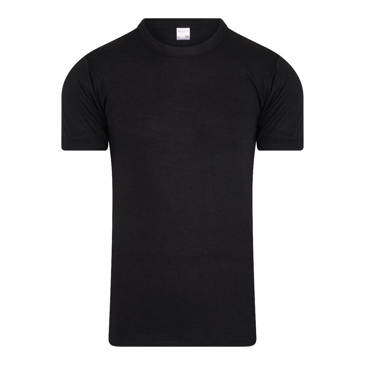 Beeren Thermo Heren T-shirt Zwart Xxl