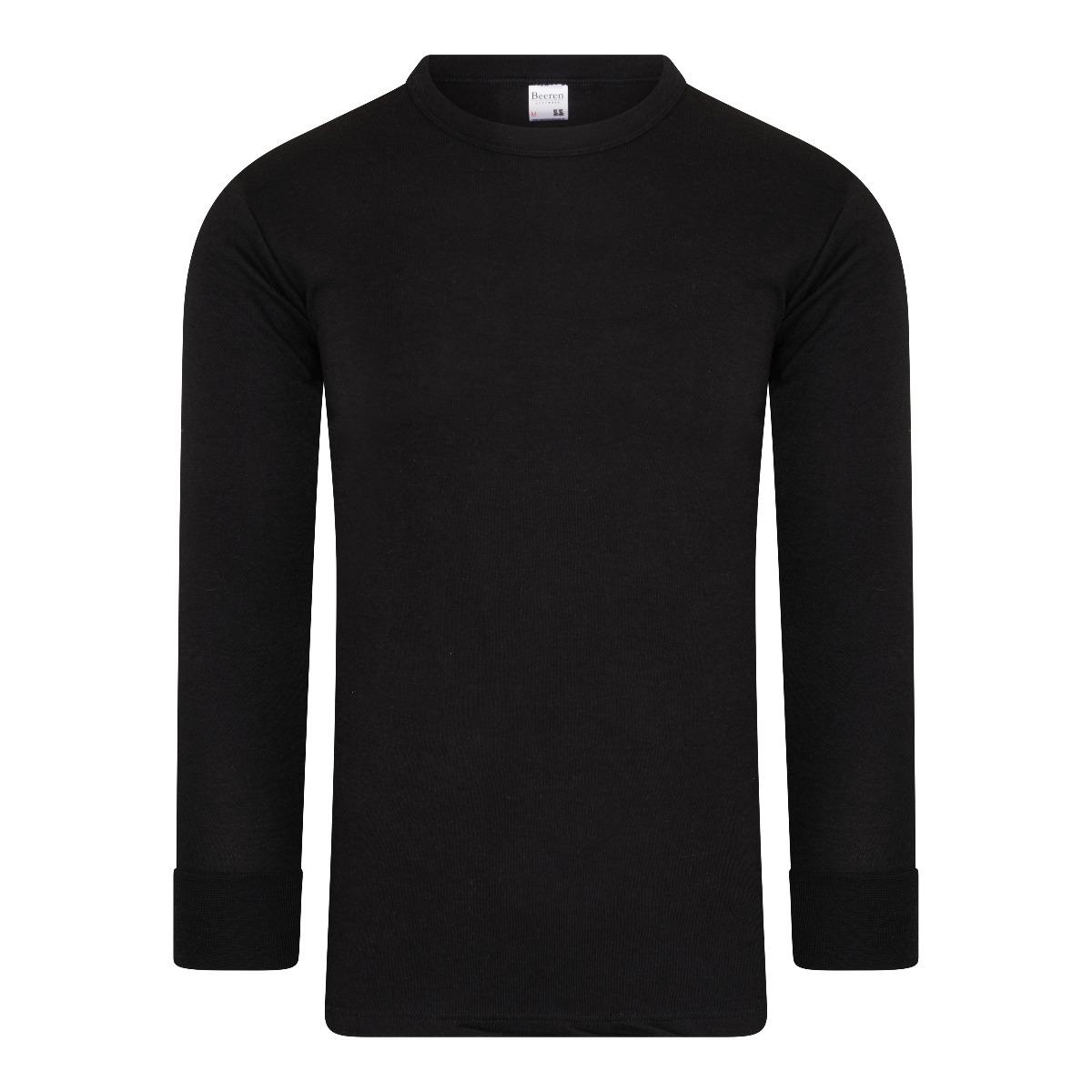 Beeren Thermo Heren Shirt Lange Mouw Zwart M