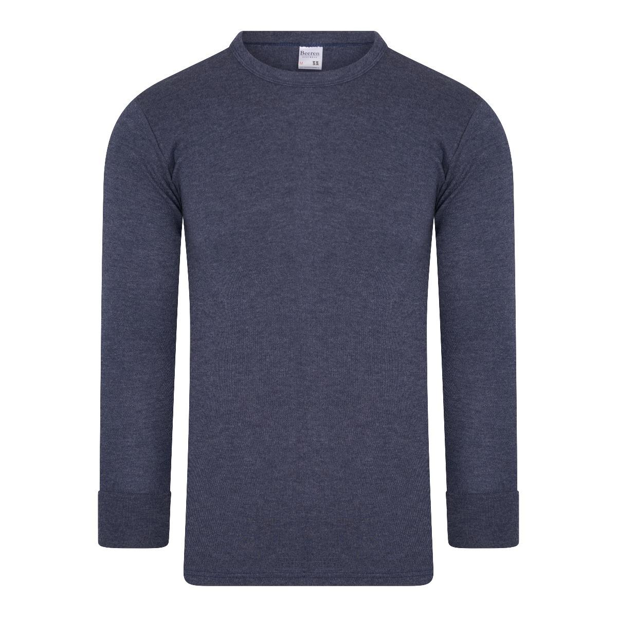 Beeren Thermo Heren Shirt Lange Mouw Marine XL