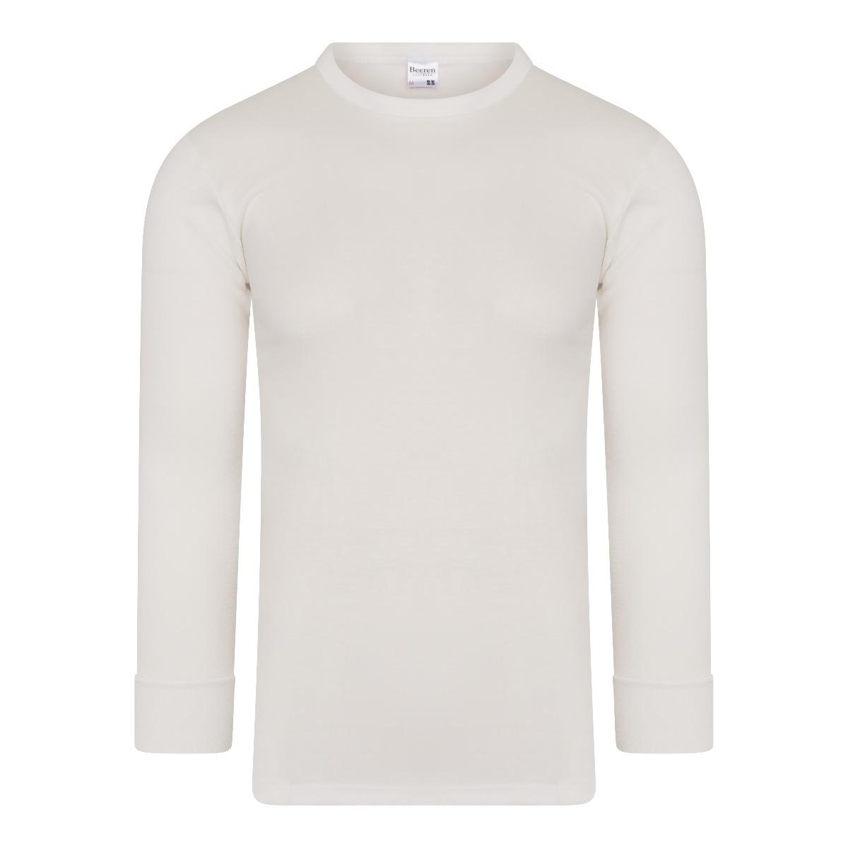 Beeren Thermo Heren Shirt Lange Mouw Wolwit XL