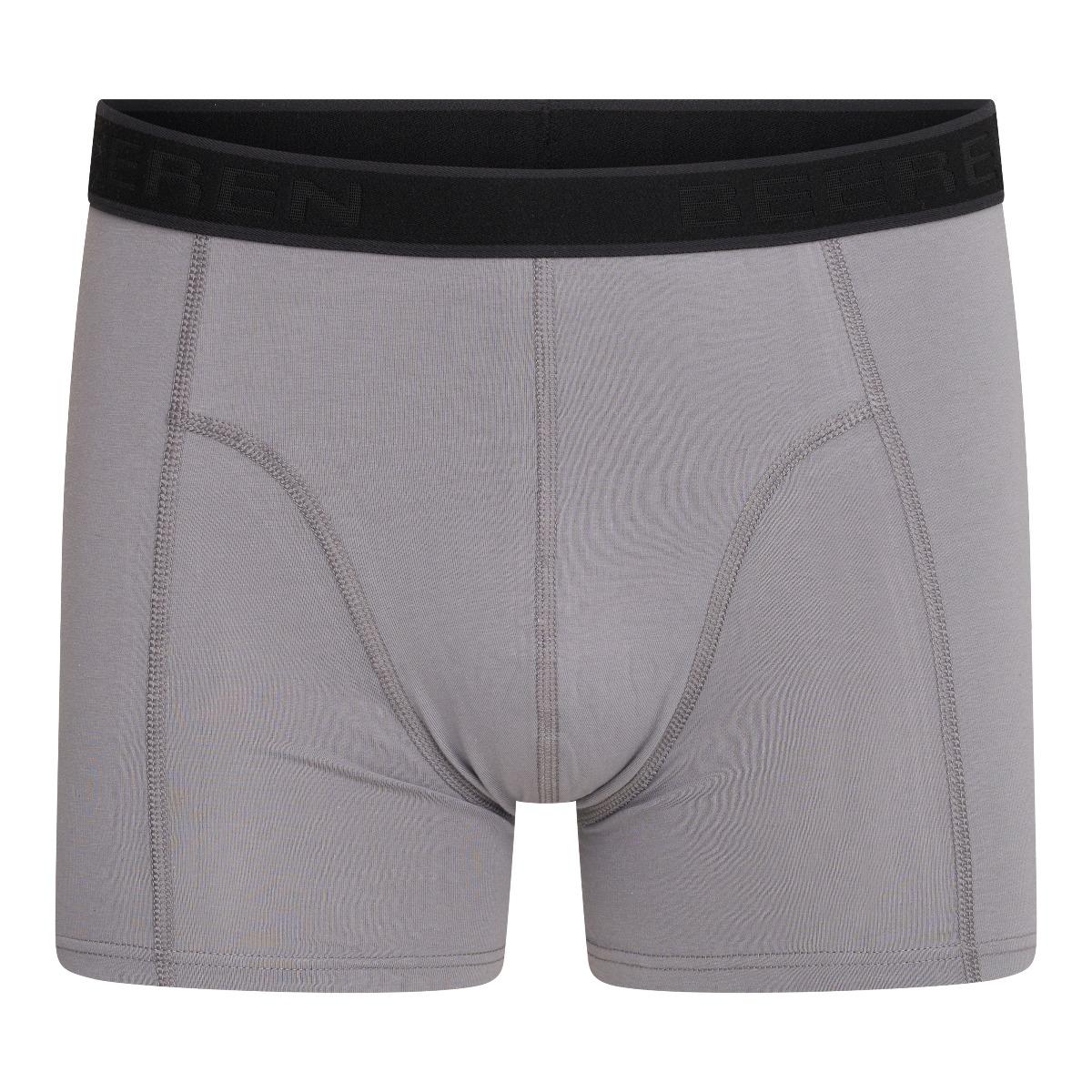 Beeren Cotton Stretch Heren Boxershort Hugo Middengrijs XL