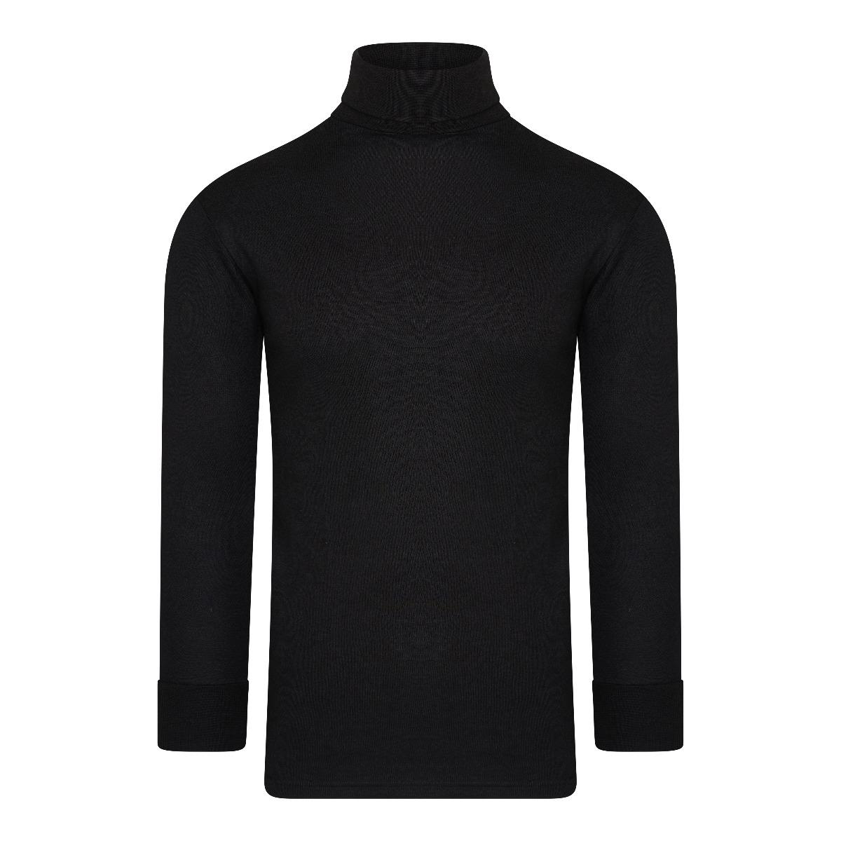 Beeren Thermo Unisex Shirt Col Lange Mouw Zwart M