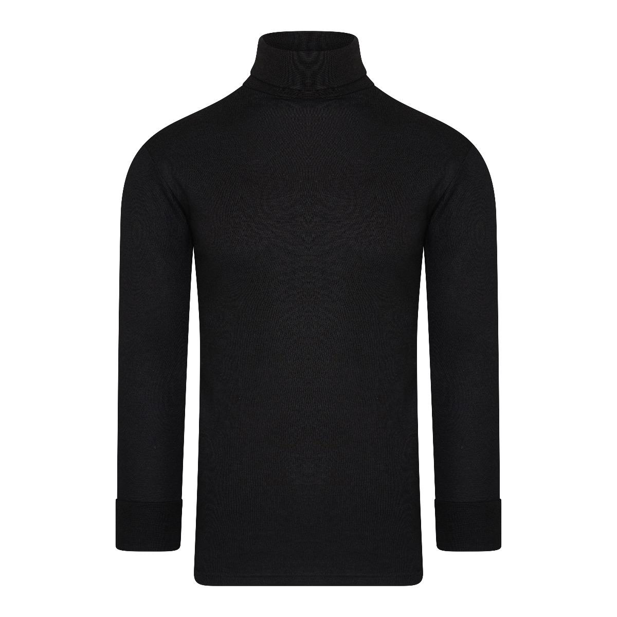 Beeren Thermo Unisex Shirt Col Lange Mouw Zwart XL