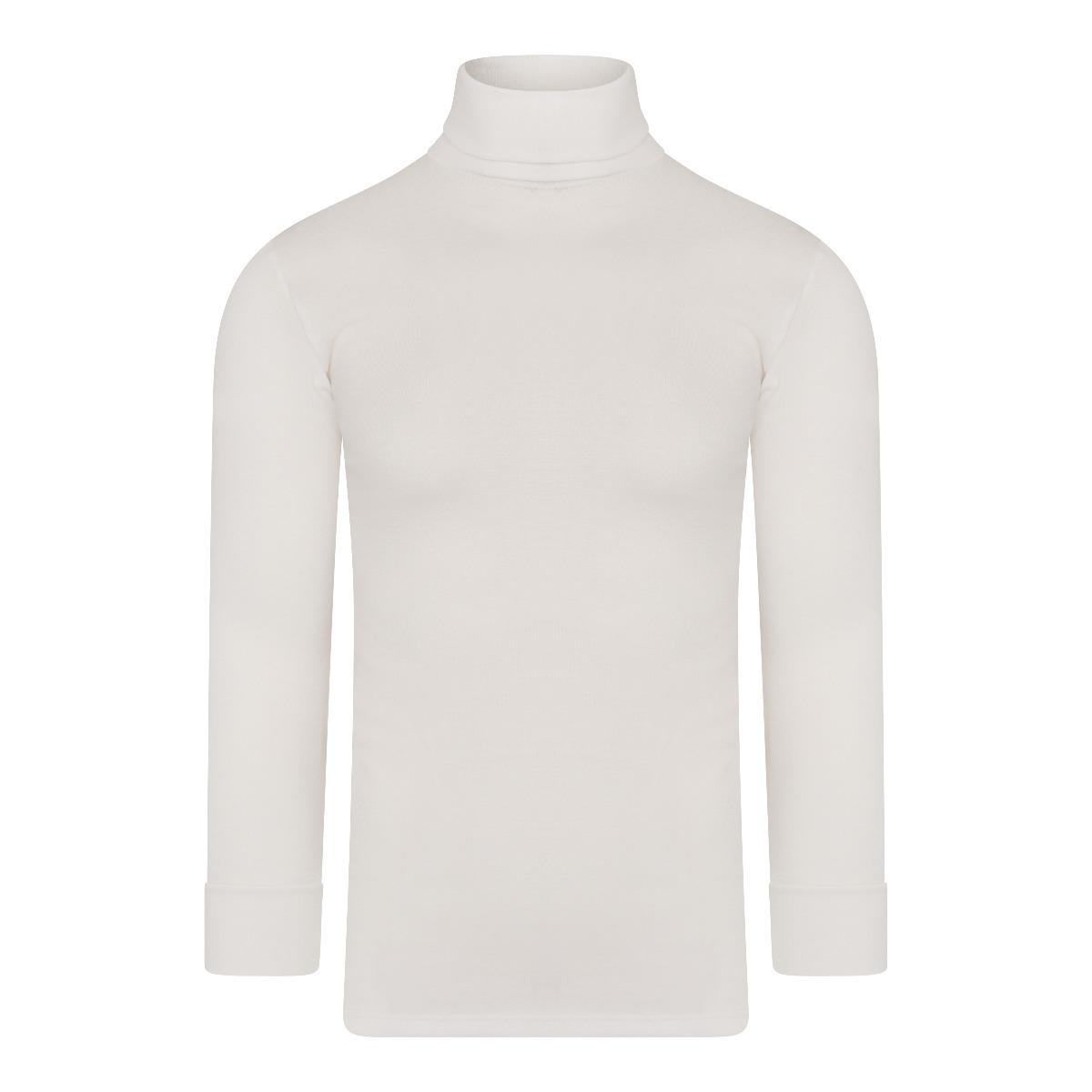 Beeren Thermo Unisex Shirt Col Lange Mouw Wolwit Xxl