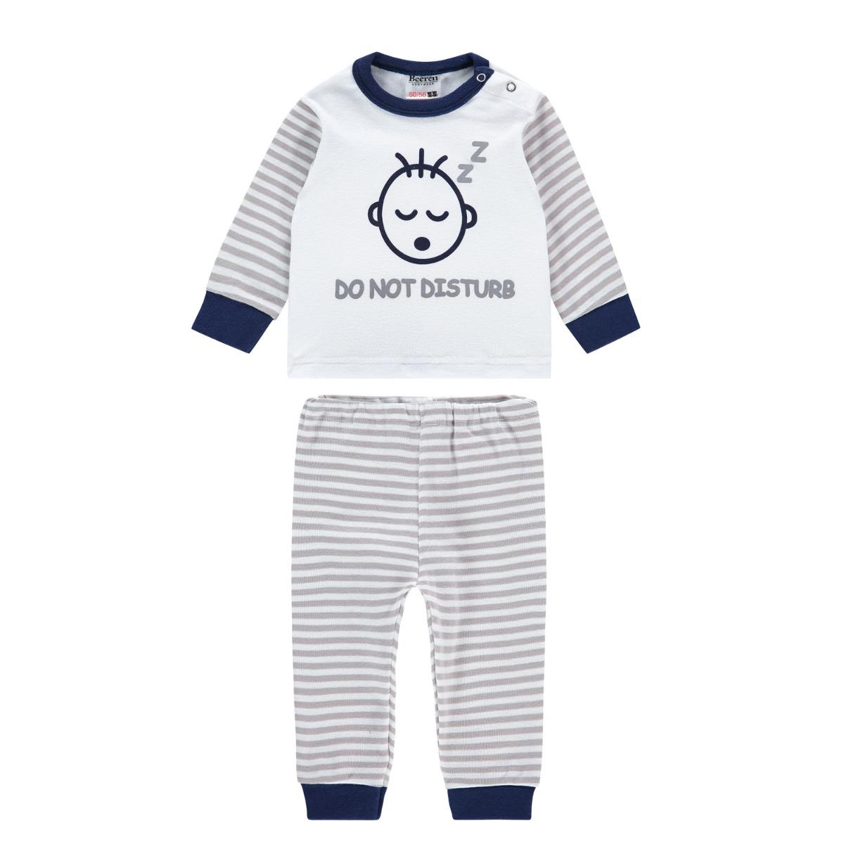 Beeren M3000 Baby Pyjama Do Not Disturb Grey 50/56