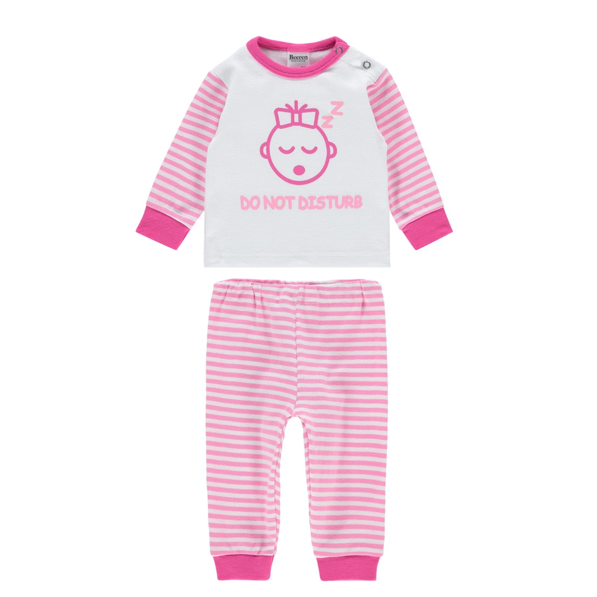 Beeren M3000 Baby Pyjama Do Not Disturb Pink 62/68