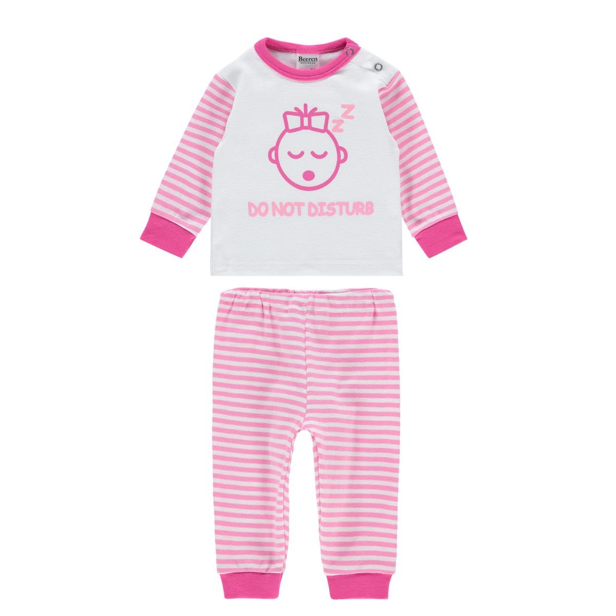 Beeren M3000 Baby Pyjama Do Not Disturb Pink 74/80