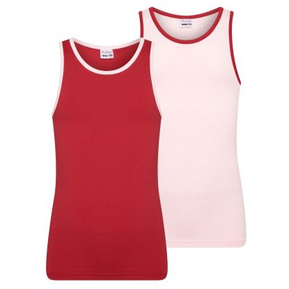 Beeren 2-Pck Mix&Match Meisjes Hemd L.Roze/D.Rood