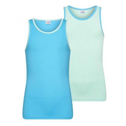 Beeren 2-Pck Mix&Match Meisjes Hemd Mint/Turquoise