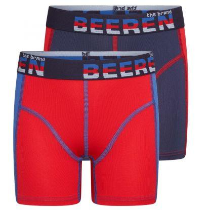 Beeren 2-Pck Mix&Match Jongens Boxer Blauw/Rood