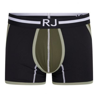 RJ Pure Color Heren Boxershort 'Happy Balls' Donkergroen