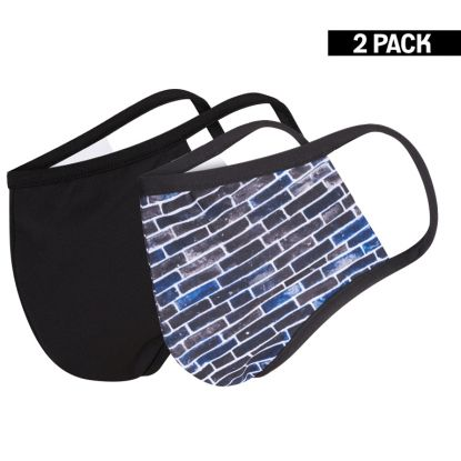 Heren 2-Pack Mondkapjes Wall/Zwart maat M