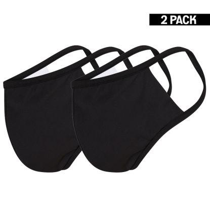 Heren 2-Pack Mondkapjes Zwart maat M