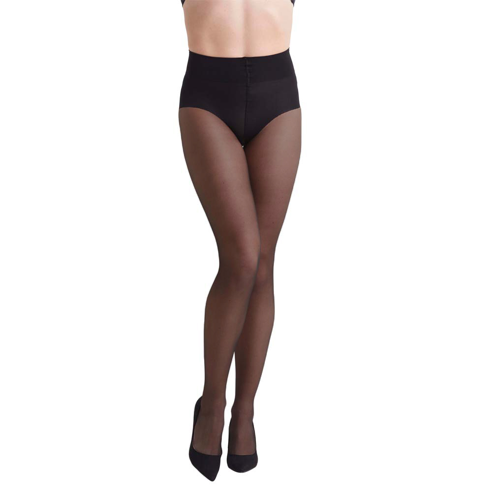 High Waist French Cut Shaping Tights 30d Black M